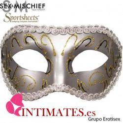 Grey Masquerade Mask · Sex & Mischief