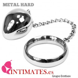 Cockring con bola y cadena  45mm · Metal Hard