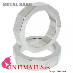 Cockring pene y testículos «METAL HARD NUR» 50mm