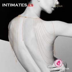 Magnifique · Joya de cadenas metálicas para hombros y espalda dorada · Bijoux