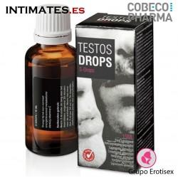 Testos Drops · Estimula el rendimiento sexual · Cobeco