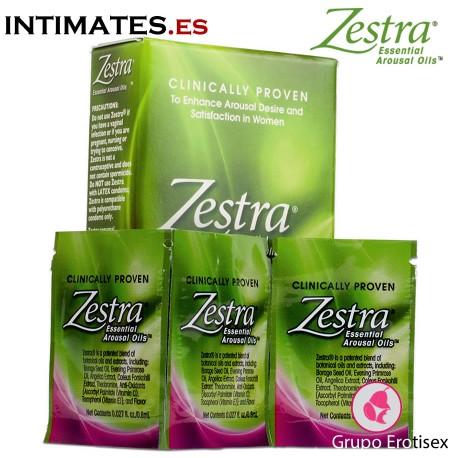 Aceite excitante ♀ · Pack de 3 sobres · Zestra