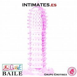 Penis Sleeve - Funda rosa con puntos estimulantes · Baile