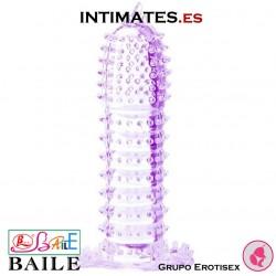 Penis Sleeve - Funda lila con puntos estimulantes · Baile