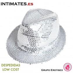 Aliv · Sombrero plateado con lentejuelas · Despedidas Low Cost