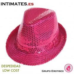 Aliv · Sombrero rosa con lentejuelas · Despedidas Low Cost