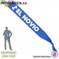 """Banda rotulada con """"El Novio"""" · Despedidas Low Cost"""