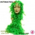 Boa con plumas de color verde · Despedidas Low Cost