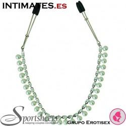 Pearl Chain Nipple Clip · Midnight