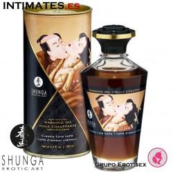 Creamy Love Latte · Aceite de masaje efecto calor · Shunga