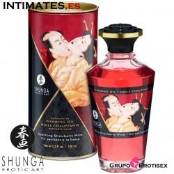 Sparkling Strawberry Wine · Aceite de masaje efecto calor · Shunga