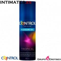 Tropical · Lubricante aroma fruta de pasión · Control