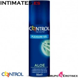 Pleasure Gel · Lubricante con Aloe · Control