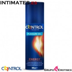 Pleasure Gel Energy · Lubricante efecto calor · Control