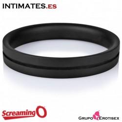 RingO Pro XL 48mm · Anillo de silicona negro · Screaming O