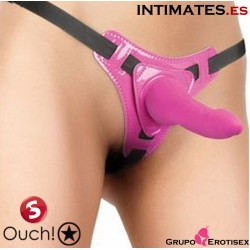 Pleasure Strap-On - Pink · Ouch!