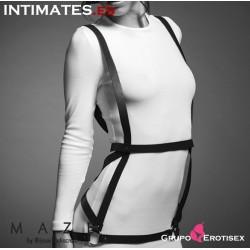 Arnés en negro con forma de vestido · Maze
