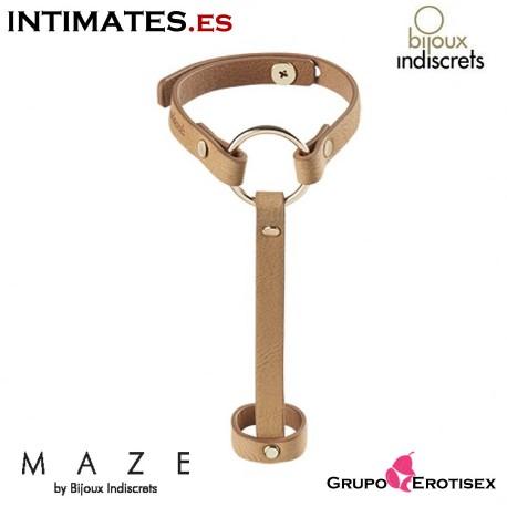 Brazalete / Arnés para manos cámel · Maze