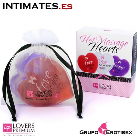 Hot Massage Hearts Set - Lovers Premium