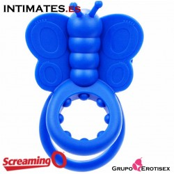 Monarch™ · Anillo vibrador mariposa azul · Screaming O