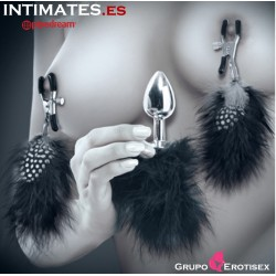 Feather Nipple Clamps & Butt Plug · Fetish Fantasy Limited Edition