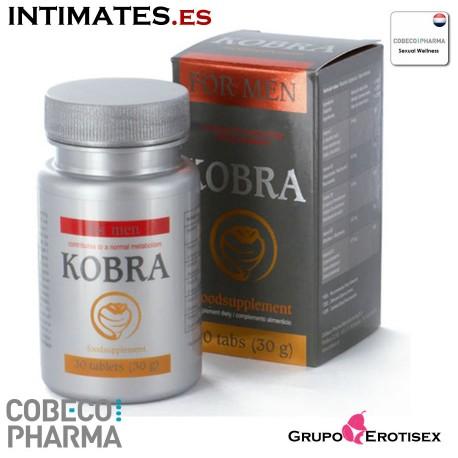 Kobra ♂ 30 caps · Estimula la erección · Cobeco