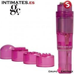 Pocket Vibe · Estimulador con cabezales - Rosa · GC