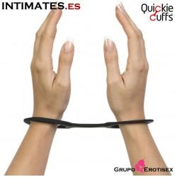 Esposas medianas de silicona - Negras · Quickie Cuffs