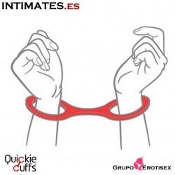 Esposas medianas de silicona - Rojas · Quickie Cuffs