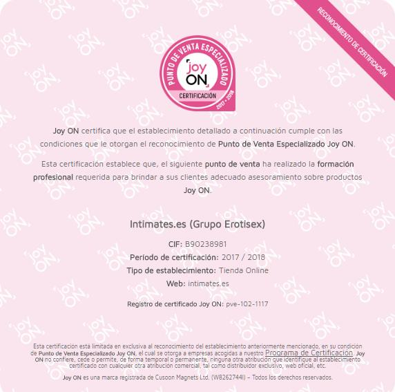Certificqdo Joy-On Grupom Erotisex